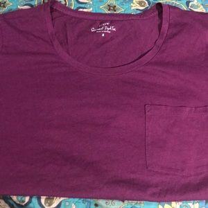 JCrew garment Dyed Magenta/purple tee